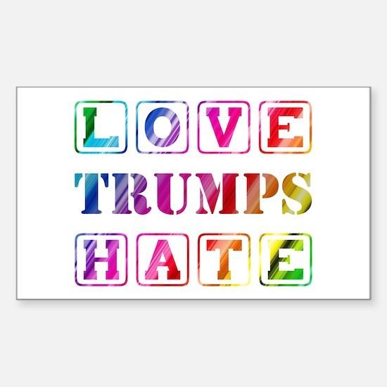 LOVE TRUMPS HATE Sticker (Rectangle)