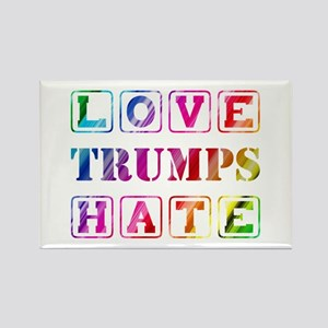 LOVE TRUMPS HATE Rectangle Magnet
