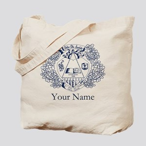 Delta Phi Lambda Crest Personalized Tote Bag