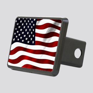 Waving American Flag Hitch Cover