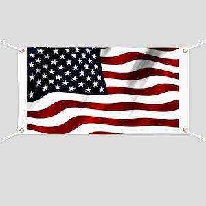 Waving American Flag Banner