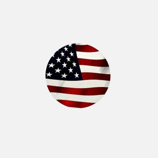 Waving American Flag Mini Button