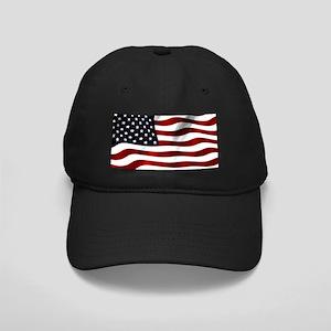 Waving American Flag Baseball Hat