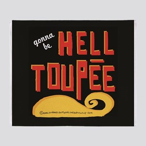 hell toupee Throw Blanket