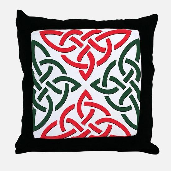 Christmas Trinity Knot Throw Pillow
