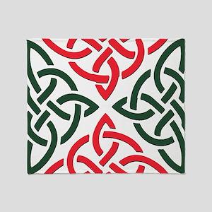 Christmas Trinity Knot Throw Blanket