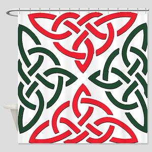 Christmas Trinity Knot Shower Curtain