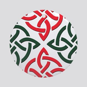 Christmas Trinity Knot Round Ornament