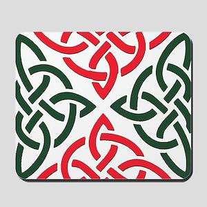Christmas Trinity Knot Mousepad
