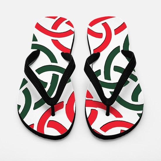 Christmas Trinity Knot Flip Flops