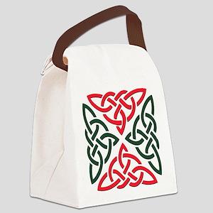 Christmas Trinity Knot Canvas Lunch Bag