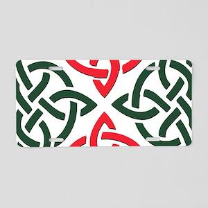 Christmas Trinity Knot Aluminum License Plate