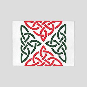 Christmas Trinity Knot 5'x7'Area Rug