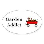 Garden Addict Sticker (Oval 10 pk)