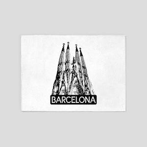 Barcelona: Sagrada Familia 5'x7'Area Rug