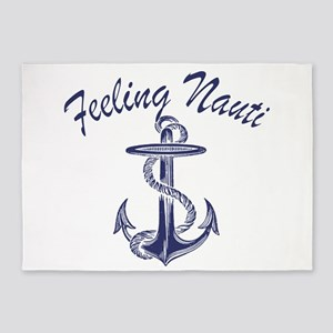 blue anchor feeling nauti 5'x7'Area Rug
