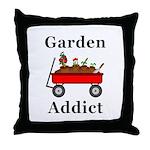 Garden Addict Throw Pillow