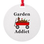 Garden Addict Round Ornament