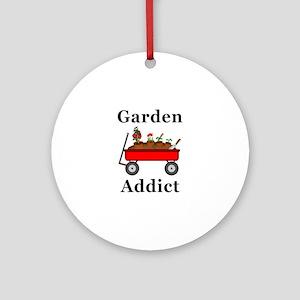 Garden Addict Round Ornament