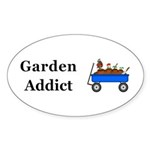 Garden Addict Sticker (Oval 50 pk)