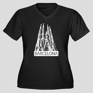 Barcelona: Sagrada Familia Plus Size T-Shirt