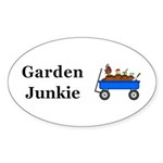 Garden Junkie Sticker (Oval 50 pk)