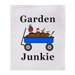 Garden Junkie Throw Blanket