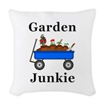 Garden Junkie Woven Throw Pillow