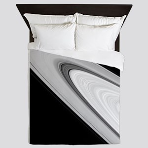 Saturn's rings by Cassini Queen Duvet