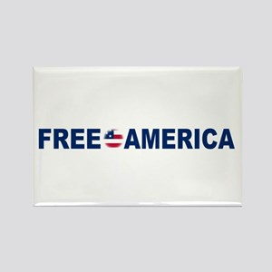 Free America Rectangle Magnet