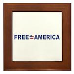 Free America Framed Tile