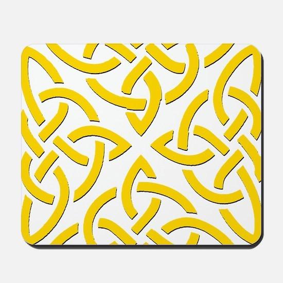 Yellow Trinity Knot Mousepad