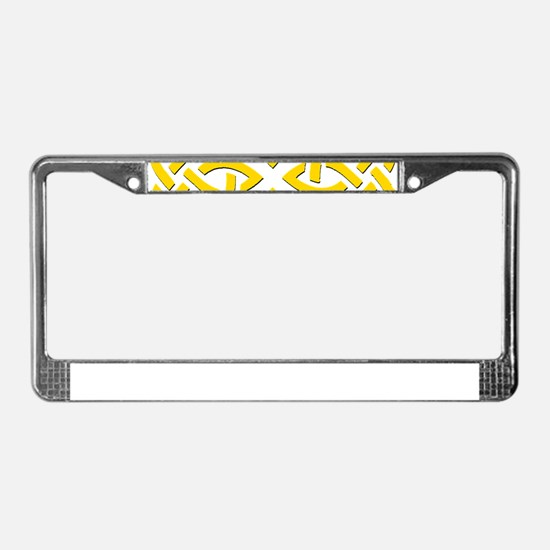 Yellow Trinity Knot License Plate Frame