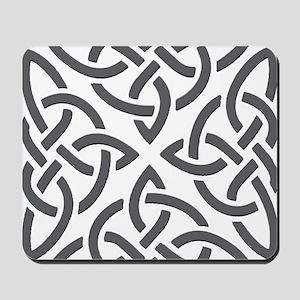Gray Trinity Knot Mousepad