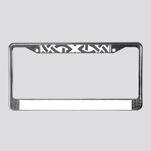 Gray Trinity Knot License Plate Frame