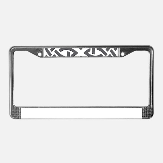 Gray Trinity Knot License Plate Frame