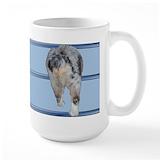 Australian shepherd Large Mugs (15 oz)