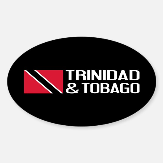 Trinidad & Tobago Flag Sticker (Oval)