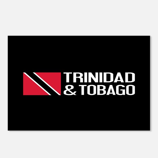 Trinidad & Tobago Flag Postcards (Package of 8)