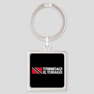 Trinidad & Tobago Flag Square Keychain