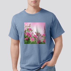 Butterfly Flowers Mens Comfort Colors Shirt