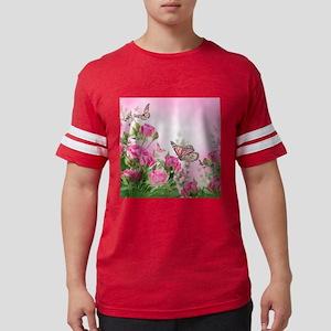 Butterfly Flowers Mens Football Shirt