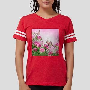 Butterfly Flowers Womens Football Shirt