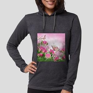Butterfly Flowers Womens Hooded Shirt