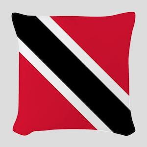 Trinidad & Tobago Flag Woven Throw Pillow