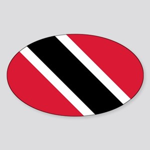 Trinidad & Tobago Flag Sticker (Oval)