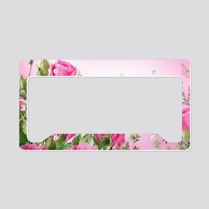 Butterfly Flowers License Plate Holder