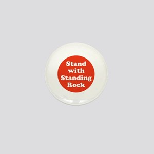 Stand with Standing Rock, no pipeline Mini Button