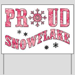 PROUD SNOWFLAKE Yard Sign