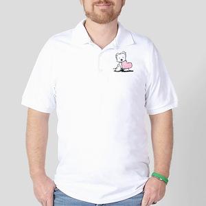 KiniArt Westie Warm Fuzzy Golf Shirt